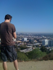 Ian looking over LA from Runyon Canyon